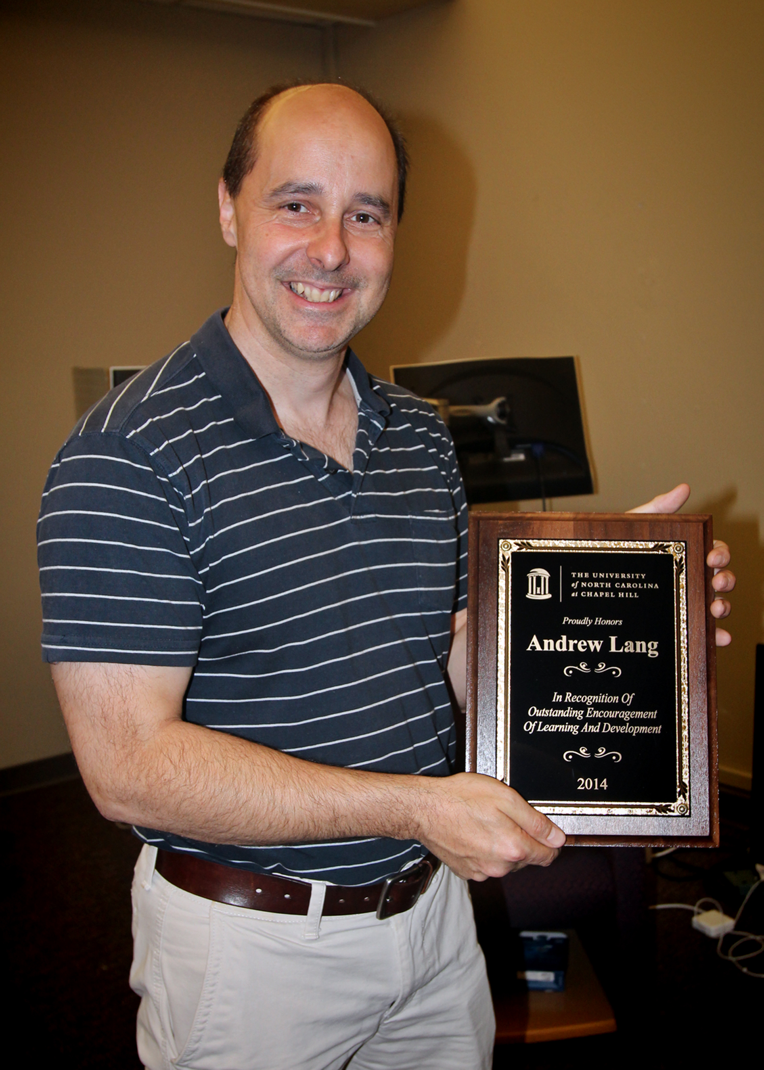 2014 OELD Recipient is Andy Lang, Director of the Office of Arts and Sciences Information Services